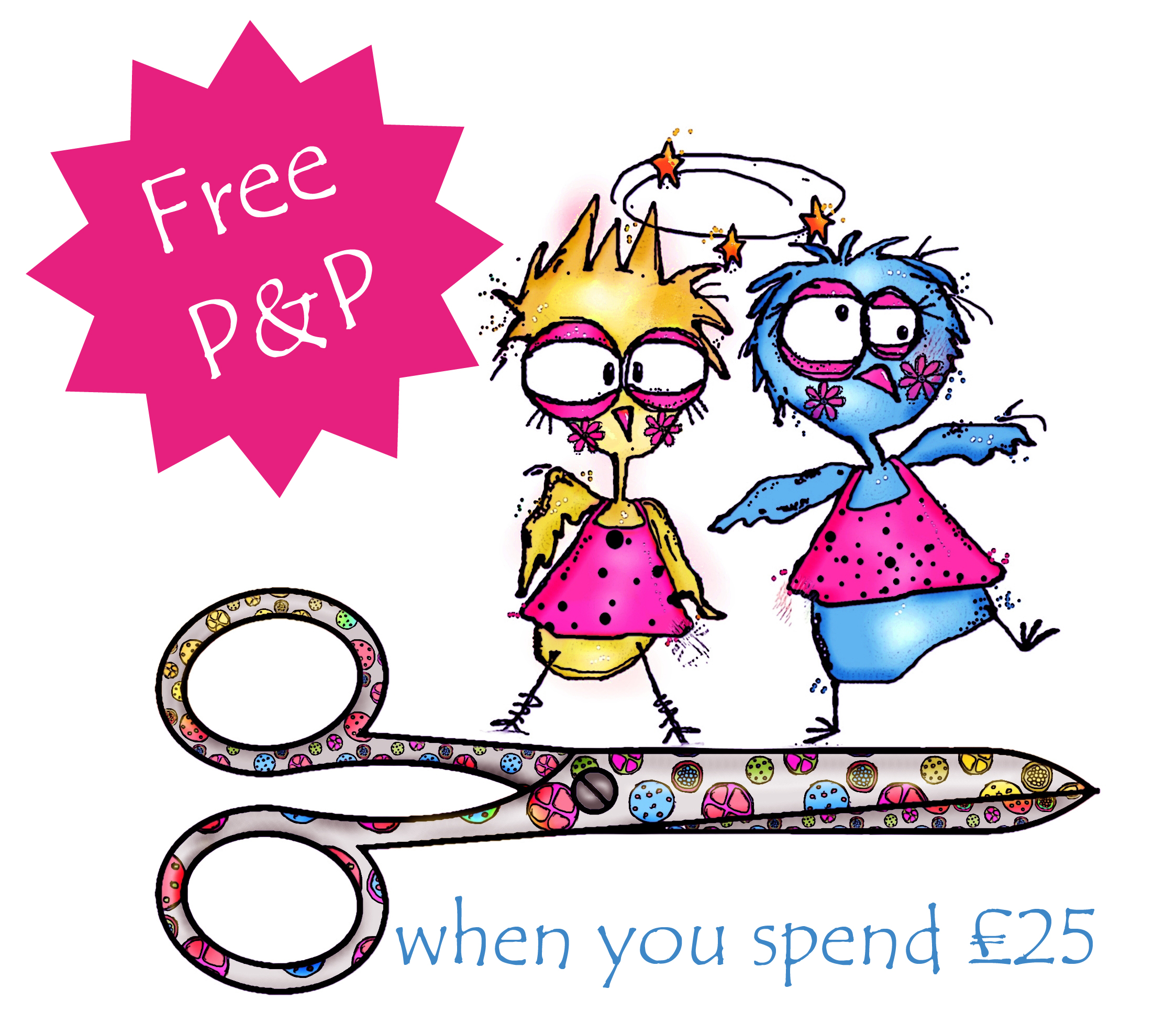 Free P&P when you spend £25
